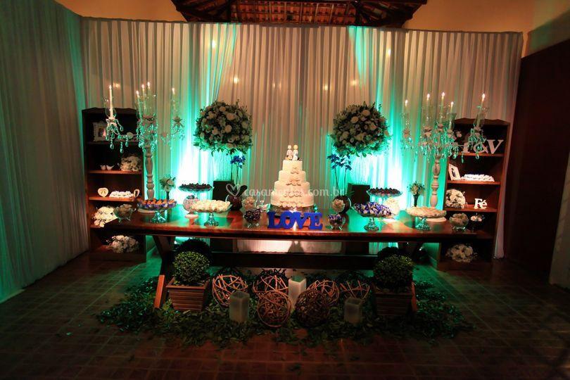 Vista salão mesa