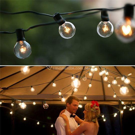 Varal de luz c lampadas