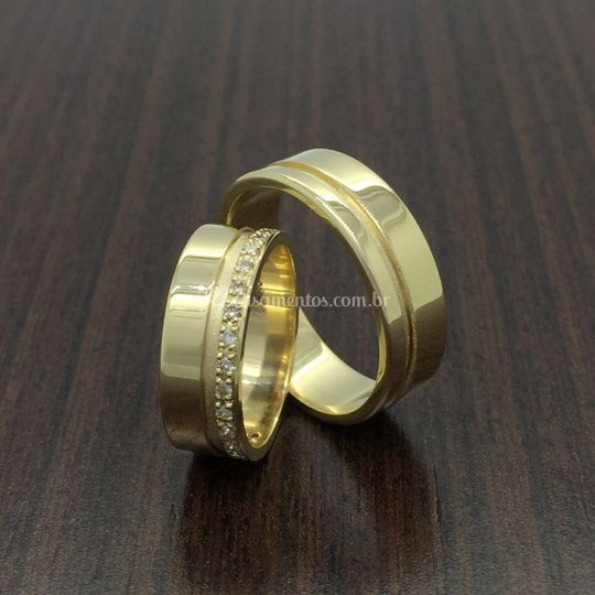 Aliança em ouro 18k/750