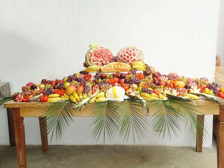 Arranjos com Frutas # Decoração De Frutas Para Mesa
