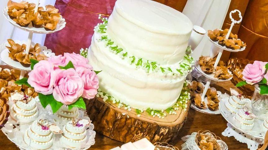 Mesa do bolo/casamento