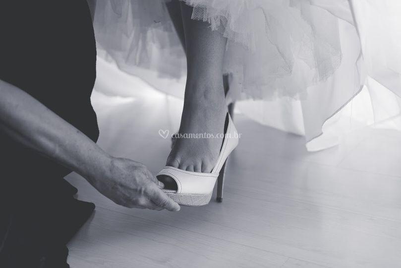 Colocação do sapato