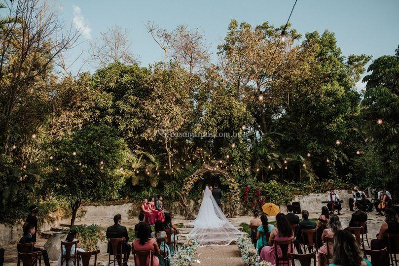 Cerimônia em área externa