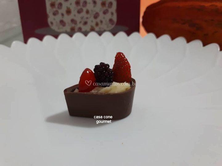 Gota com frutas vermelhas