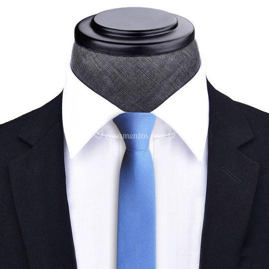 Gravata Slim Azul Serenity