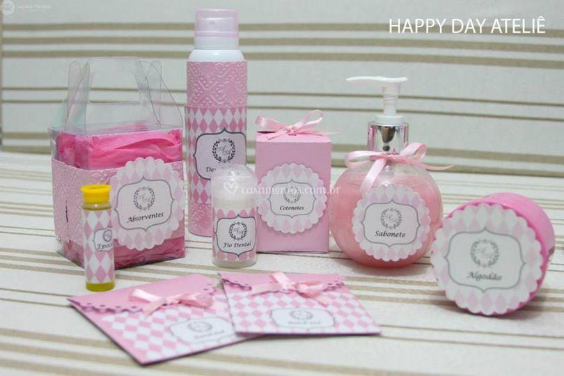 Kit toillet rosa