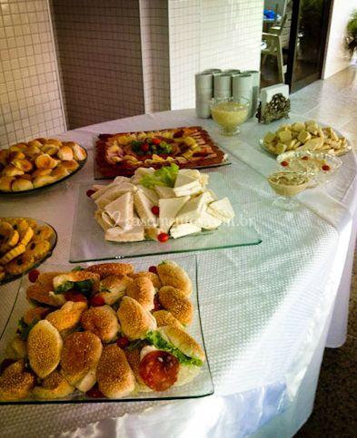 Comida para os convidados