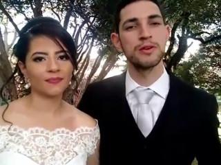 Depoimento dos noivos Nickson e Ana Paula