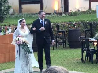 Entrada da noiva rebeca e seu pai