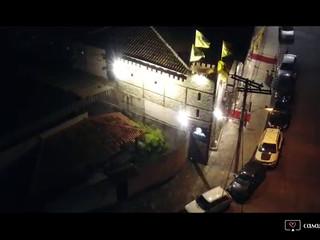 Panorâmica com drone do salão de festas O Sonhador