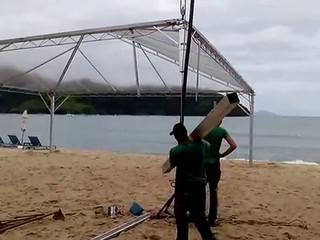 Tenda 10x15 de lona transparente montec tendas