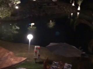 Luau romântico na lagoa