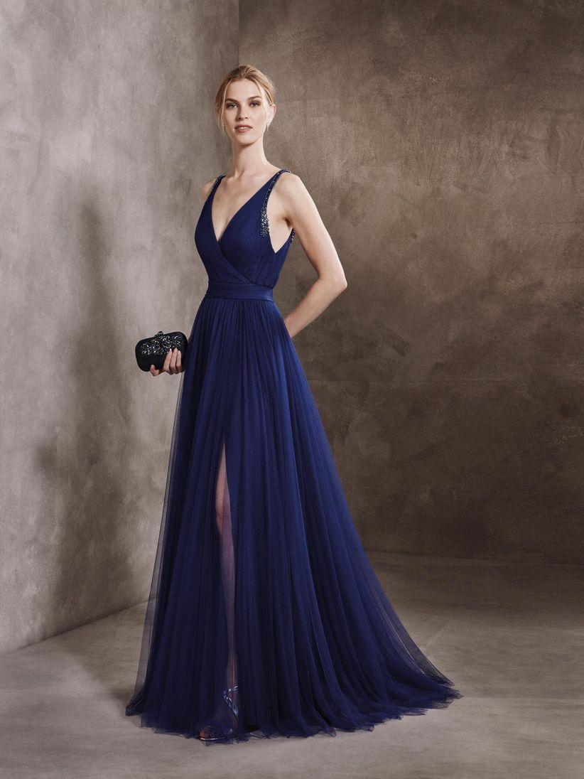 Acessorios para usar com vestido de renda azul