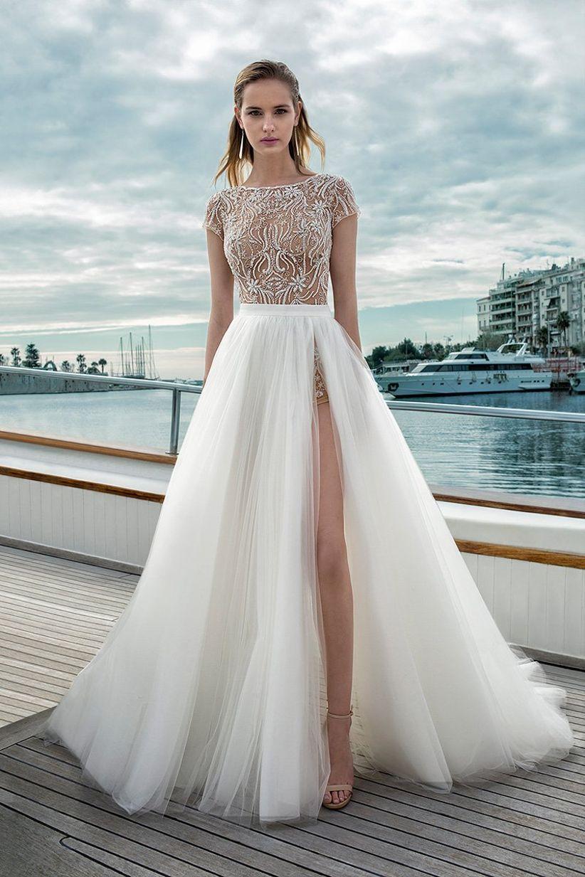2b4fce29c 50 Vestidos de noiva com fenda  inspire-se e saiba usá-la a seu favor