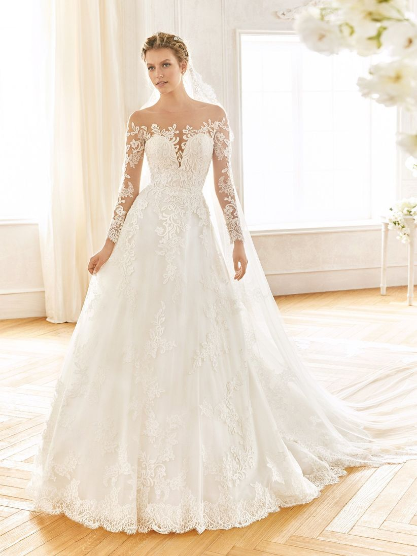 bbee4e335 70 Vestidos de noiva com decote ombro a ombro para 2019