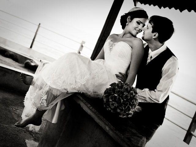 A fotografia em branco e preto para casamentos