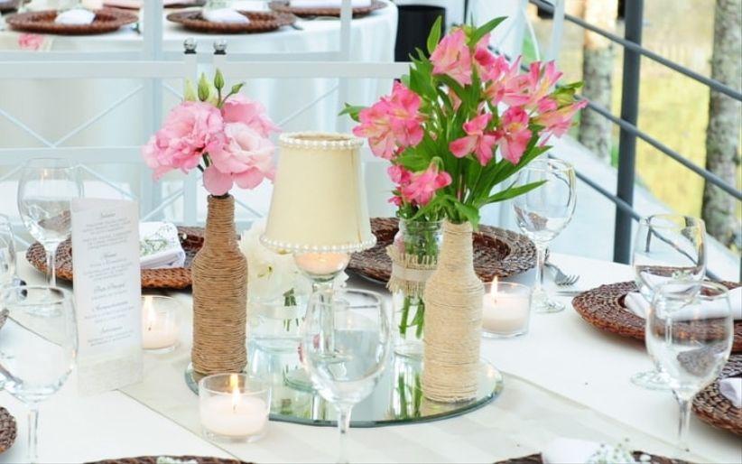 33 centros de mesa para casamentos r sticos - Centro de mesa rustico ...