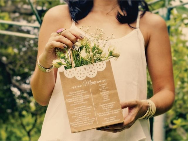 40 Ideias surpreendentes de apresentar o cardápio de casamento