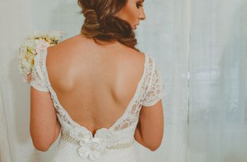Vestido de noiva  com decote nas costas: o que deve saber