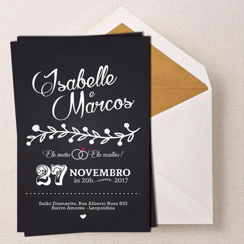 30 Lindos Convites De Casamento Simples