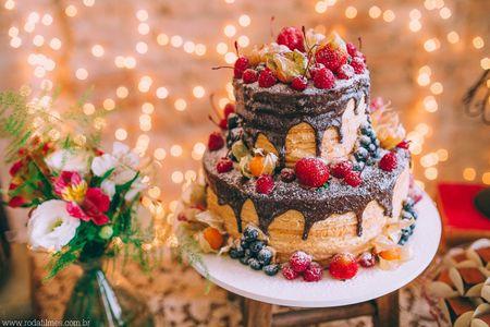 Naked cake para o seu casamento