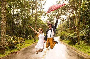 Dicas para ensaios de noivos na chuva