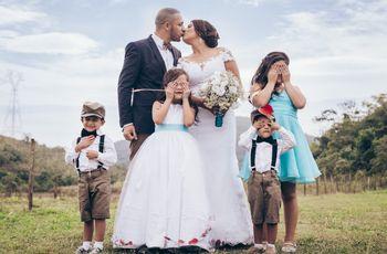 A mesa das crianças no casamento