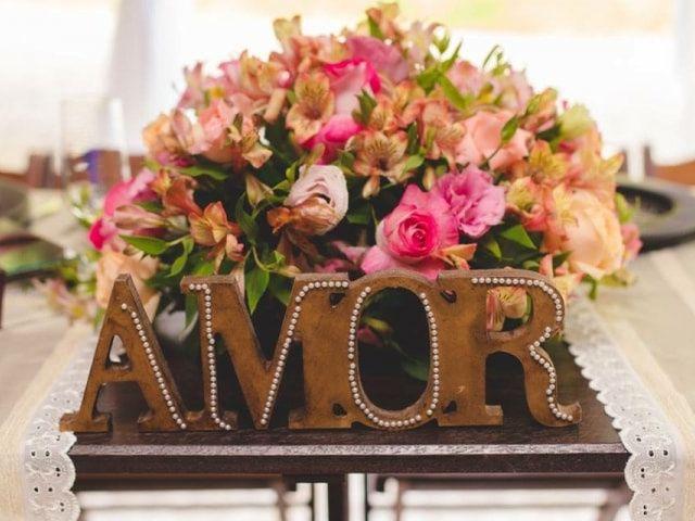 Letras decorativas para o seu casamento