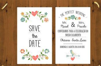 Convites de casamento baratos: como economizar com estilo