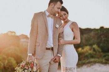 Looks de noivo para casamentos na praia