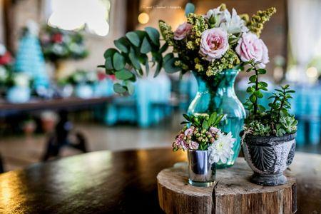 Centros de mesa para casamentos r�sticos