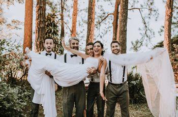 5 Ideias de fotos divertidas para noivas e padrinhos