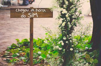 Plaquinhas sinalizadoras para o seu casamento
