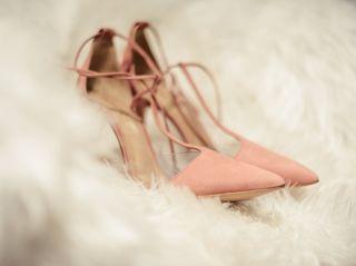 Sapatos rosas para noivas: eternas românticas
