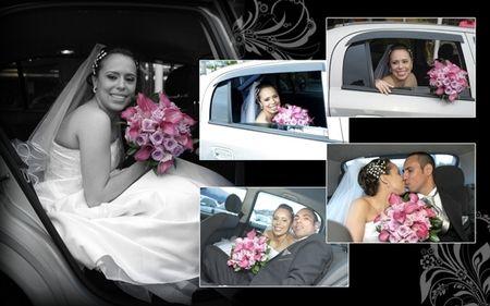A decora��o do carro de casamento