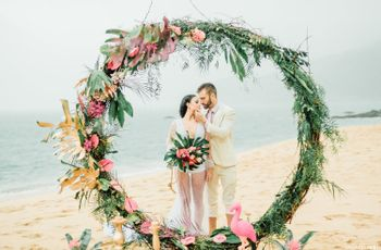 Elementos que não podem faltar em um casamento tropical