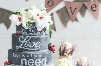Bolos de lousa: uma tendência original para casamentos