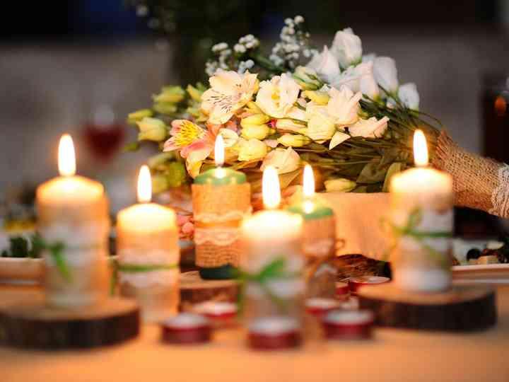 Personalize as velas do seu casamento
