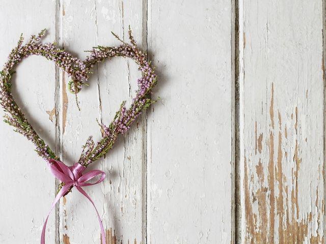 Coração de flores para decoração