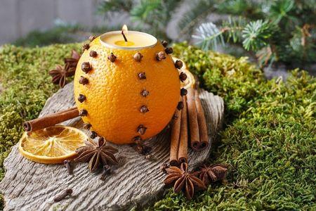 Porta-velas de fruta: fa�a voc� mesma!