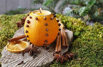 Porta-velas de fruta: faça você mesma!
