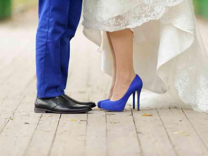 20 Sapatos coloridos para noivas