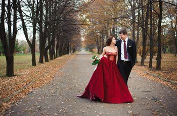 35 Vestidos de noiva vermelhos