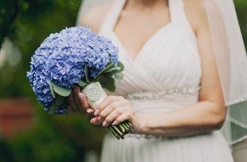 35 buquês de flores azuis
