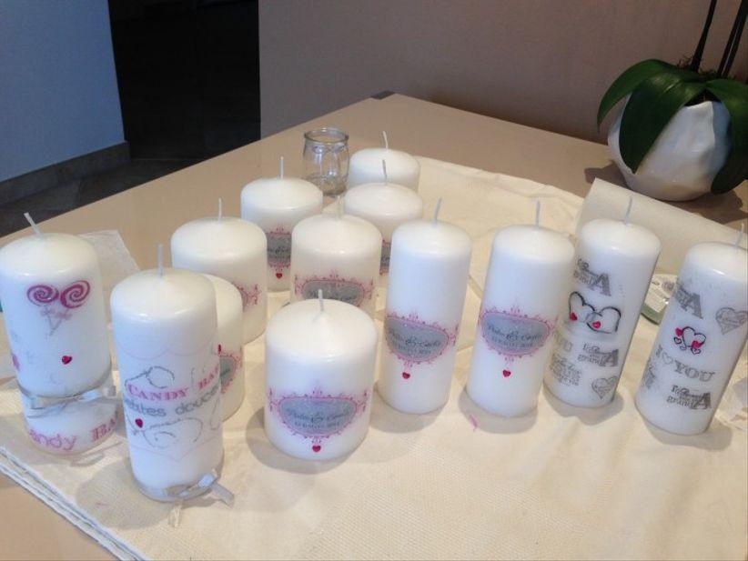 Personalize as velas do seu casamento - Deco bougie mariage ...