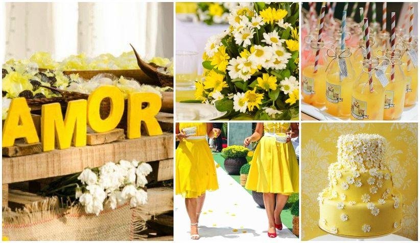 decoracao casamento rustico azul e amarelo: casamentos quer saber como decorar o seu casamento com essa cor