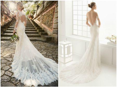 24 vestidos de noiva com decote Ilusão