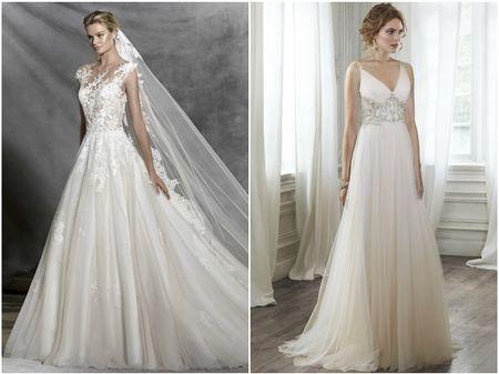 Vestidos para noivas com quadril largo