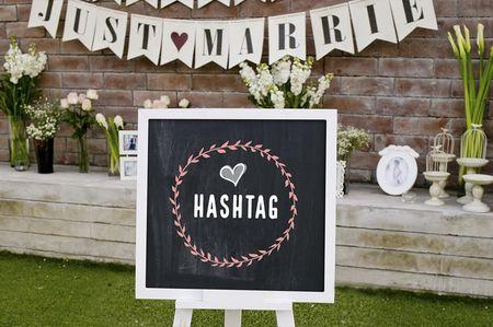 Como escolher o hashtag perfeito para o seu casamento