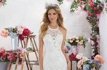 Vestidos de noiva com decote halter: potencialize a sua beleza
